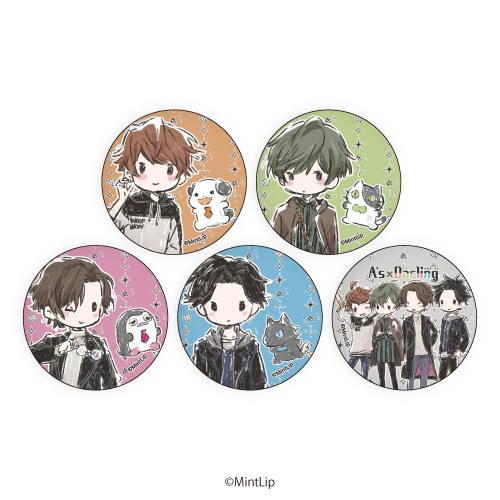 缶バッジ「A's×Darling」01/ブラインド(全5種)(グラフアート):BOX