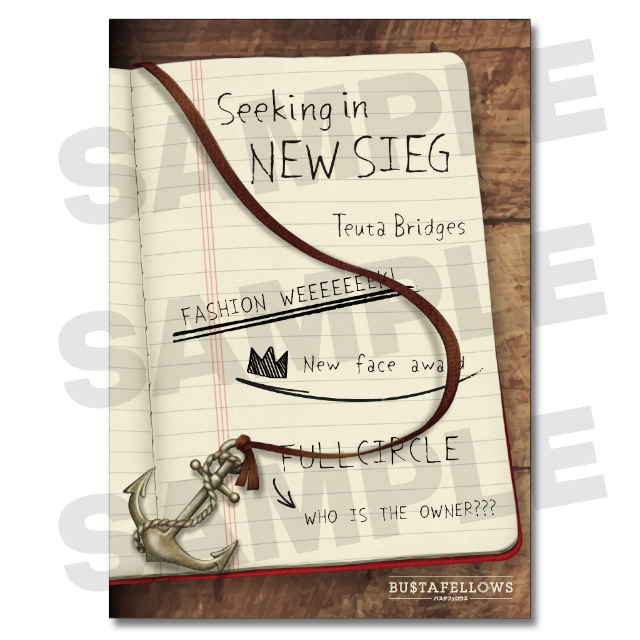BUSTAFELLOWS シナリオブック「Seeking in NEW SIEG」★特典付※早期特典付